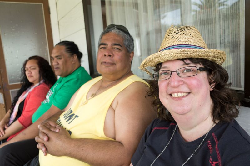 Besuch von Heiler-Freunden am Marae