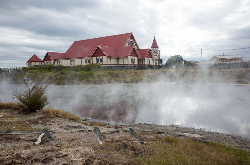 in Rotorua...umgeben von heißen Quellen