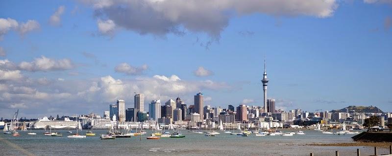 Hier ging es los und hier warteten wir auf unsere Freunde: Auckland - City of Sails