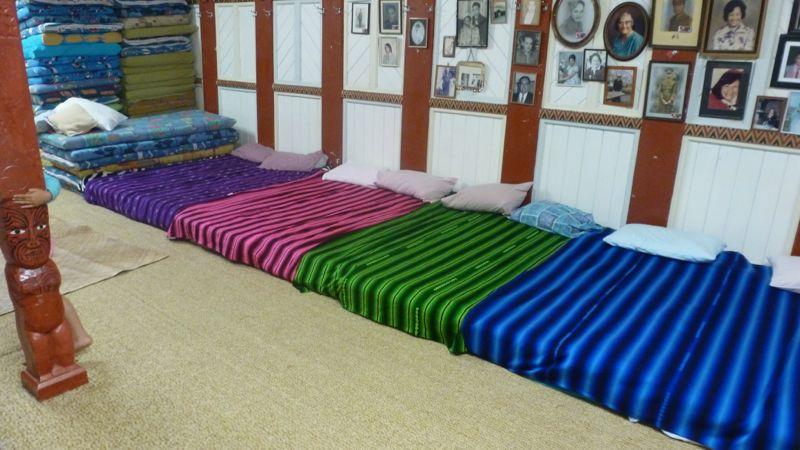 Wie man sich bettet, so liegt man...in unserem Fall natürlich auf und unter guatemaltekischen Decken - auch in Neuseeland!
