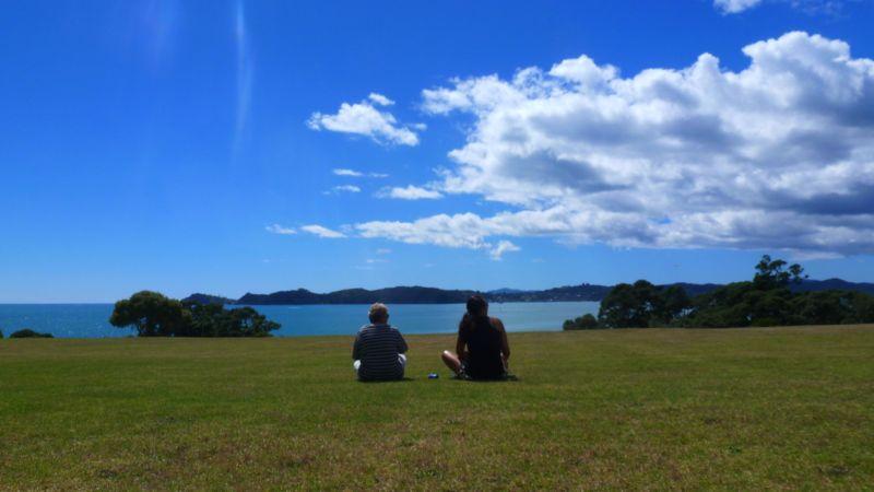 Wyn und Cheryl in Waitangi