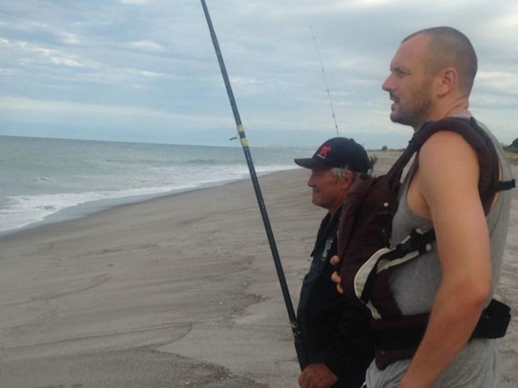 Mit meinem Schwiegervater beim Fischen