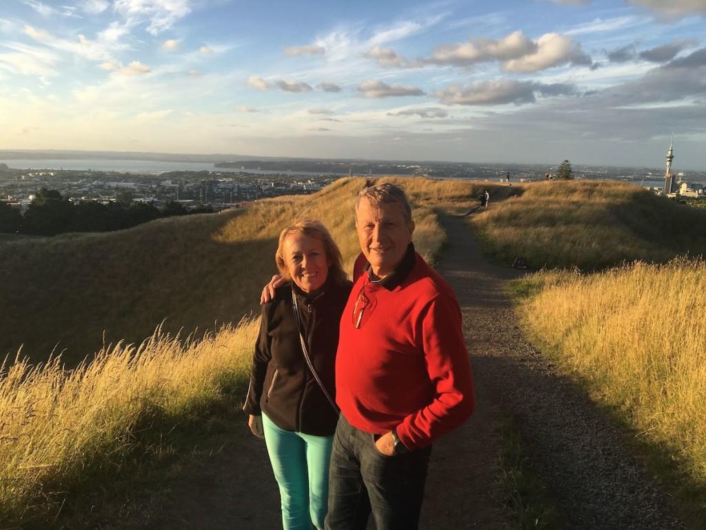 Meine Eltern am Summit in Auckland