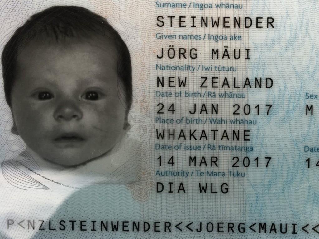 Māui hat schon seinen eigenen Pass