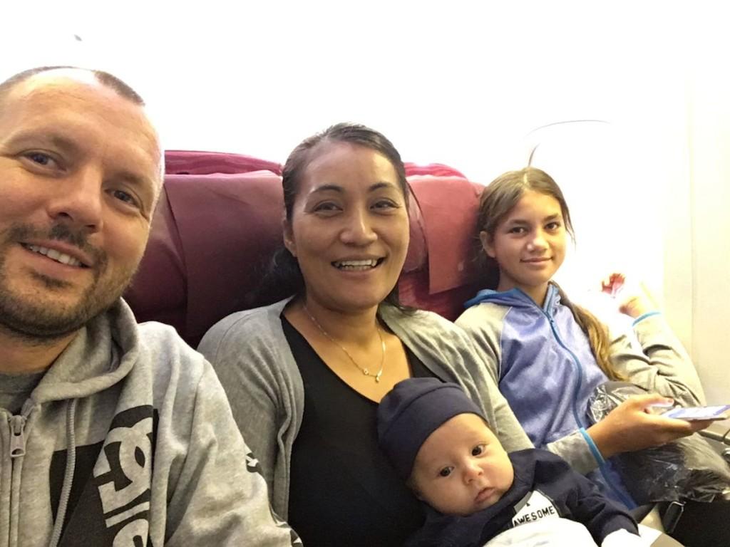 Abflug aus Neuseeland