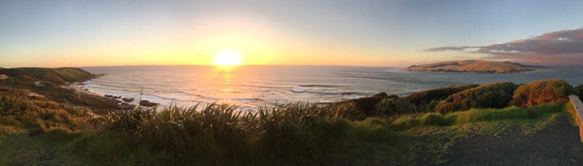 Sonnenuntergang in der Bucht von Hokianga