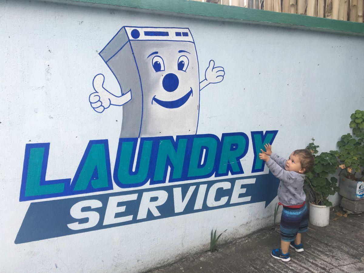 So wie diese Waschmaschine, an der wir einfach nicht vorbeigehen konnten